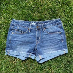 Mossimo Mid Rise Medium Wash Denim Shorts